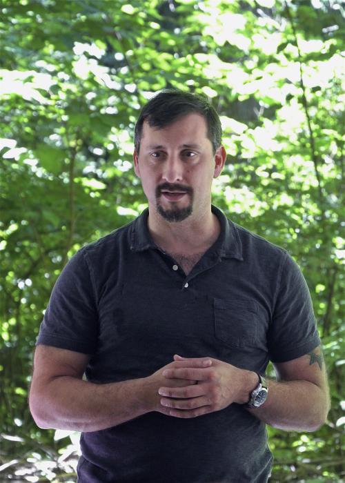 Adam addressing Sierra Club, Summer 2018