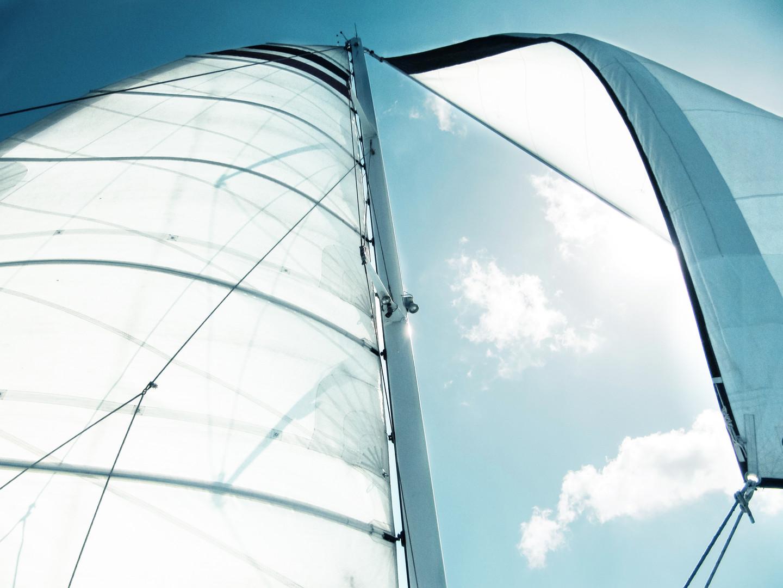 Segel auf Yacht in Mallorca