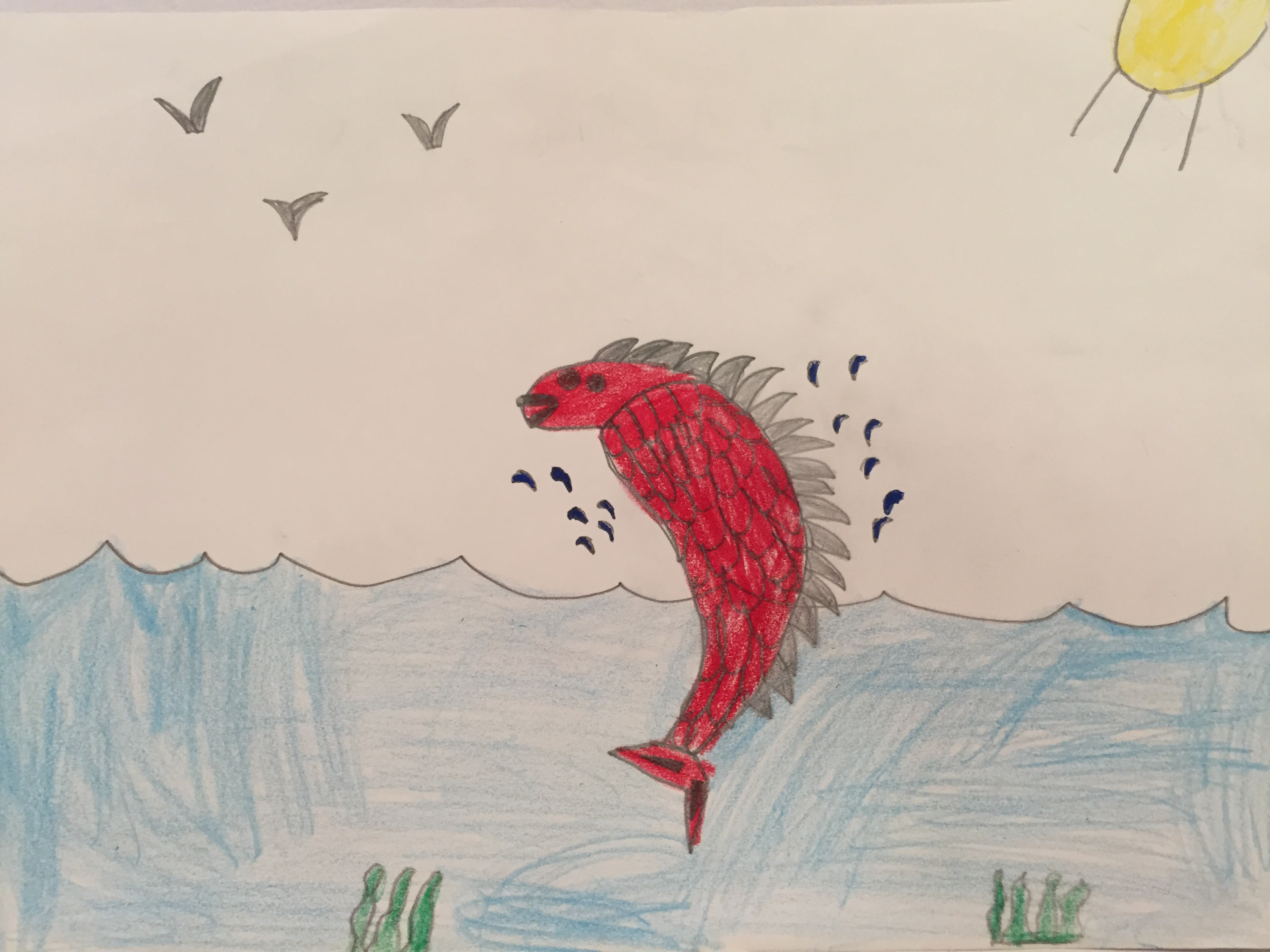 The fish from the book Wishbone