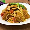 Spaghetti avec Seitan mariné