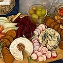 """Plateau de """"fromage et charcuterie"""" végane"""