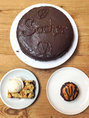 Sacher, crumble cerise et cupcake choco