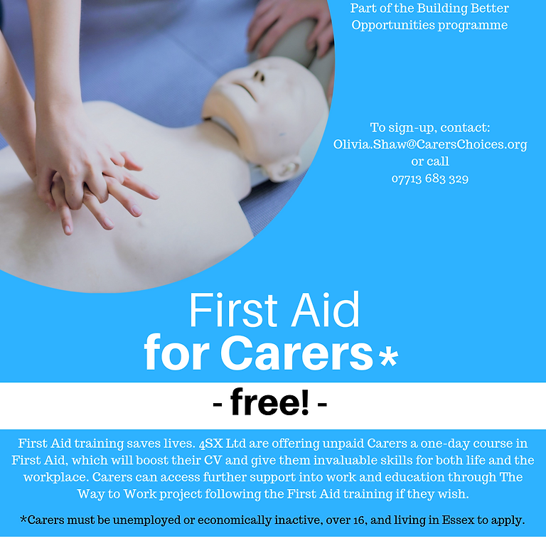 Free First Aid Training for Carers