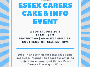 Come along to our Cake & Drop-in at Project 49!