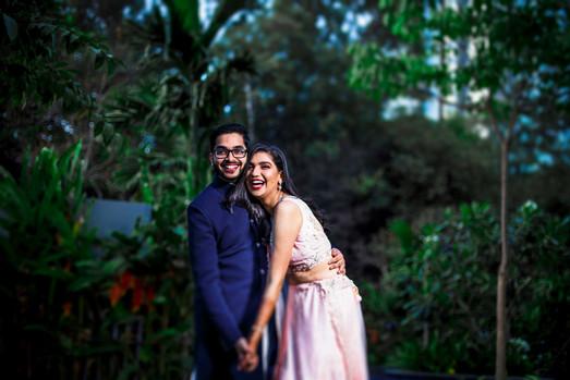 Engagement candid photo