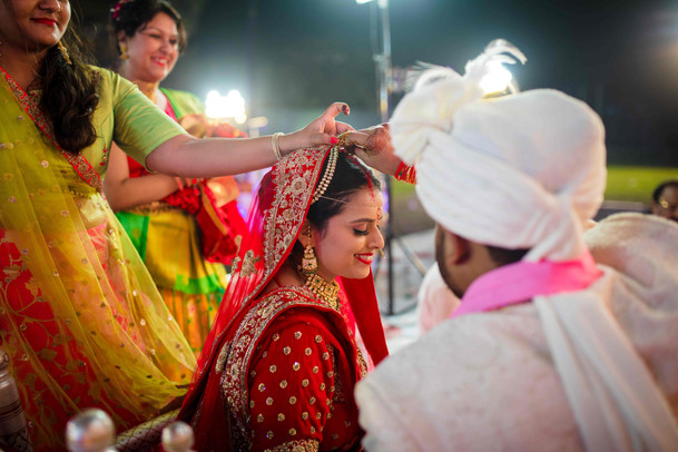 sindoor moment in marwadi wedding