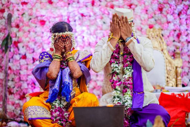 maharashtrian wedding face cover