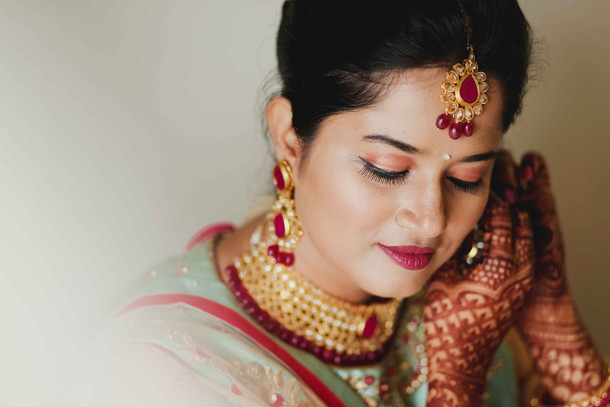 maharashtrian bride close up