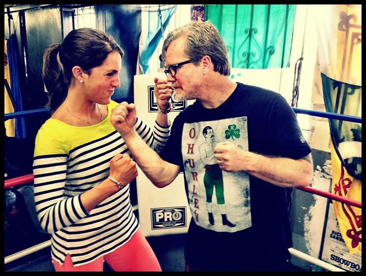Filming with Freddie Roach
