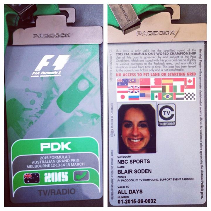 F1 Paddock Credential