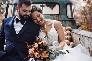 Couple married in truck