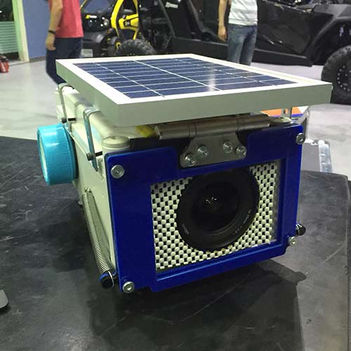 Custom self powered cooling enclosure for DSLR camera for site construction time lapse photoshoots
