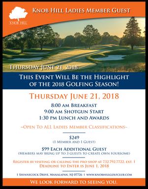 Ladies Member Guest: Thursday, June 21st