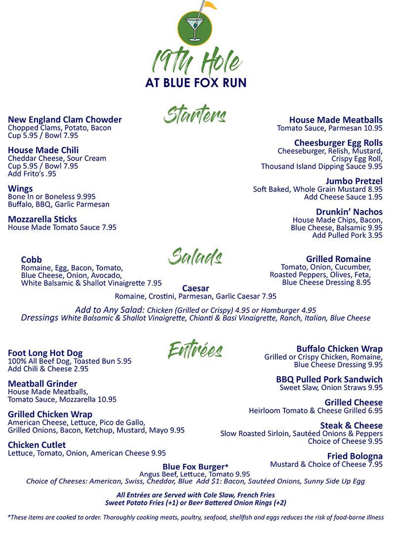 19th Hole at Blue Fox Run