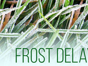 Frost Delays: An Article from the USGA regarding frost...