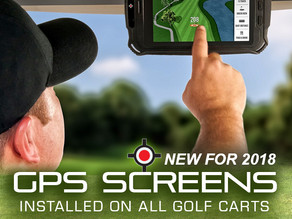 NEW FOR 2018 - GPS Screens on All Golf Carts