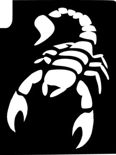 Pack 5 Stencils - escorpião