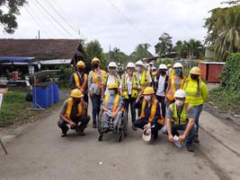 Visita de la  Representante Residente del SNU y otras agencias a proyectos de Unops: Puente Sixaola
