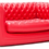 Canapé gonflable rouge type Chesterfield