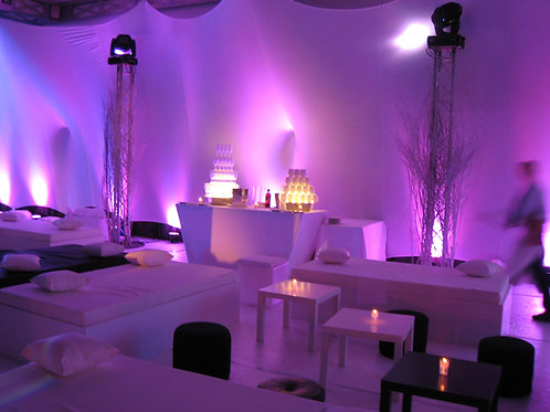 Banquette Lounge blanche