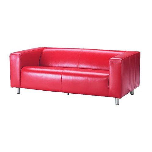 Canapé simili cuir rouge