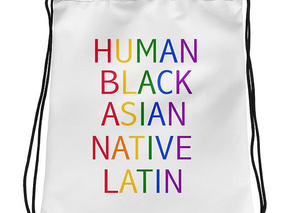 Human Pride Drawstring bag