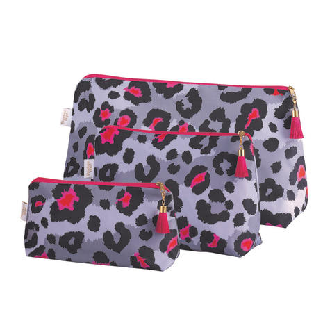 Grey leopard print washbags, from £21.60