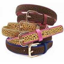 Nookie leopard print belts, £23
