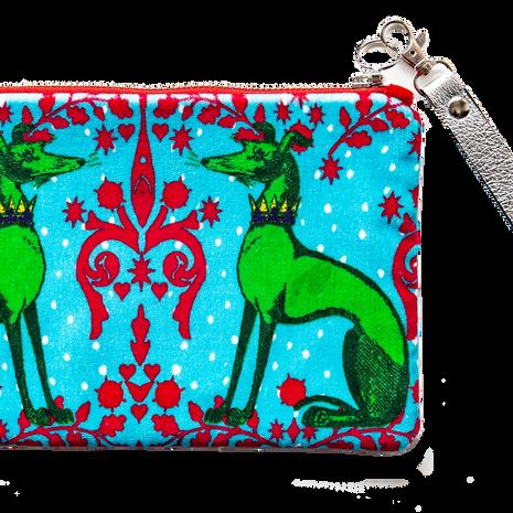 Corita Rose velvet pouch, £48 and trap, £8