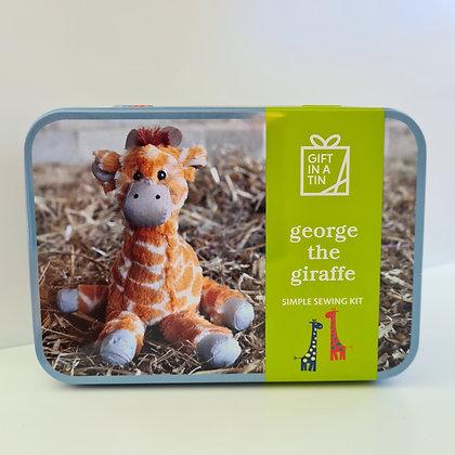 George the Giraffe Sewing Kit in a Tin