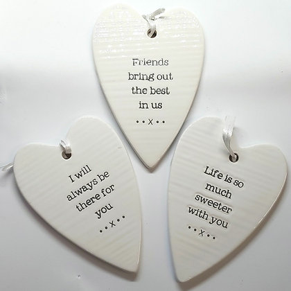 Double Sided Ceramic Heart
