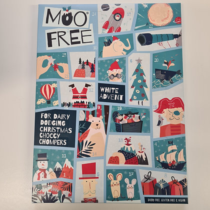 Moo Free White Advent Calendar 70g