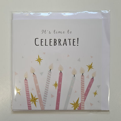 Celebrate Card with Candles