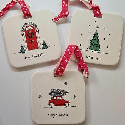 Ceramic Christmas Hangers