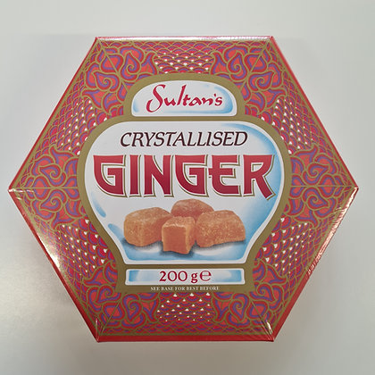 Sultan's Crystallised Ginger 200g