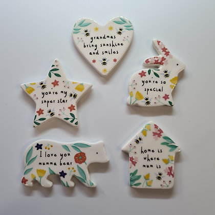 Floral Ceramic Tokens