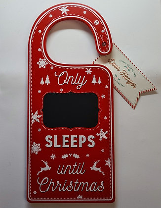 Sleeps Until Christmas Door Hanger