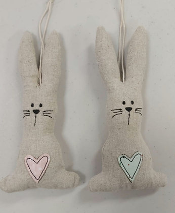 Hessian Hanging Bunnies