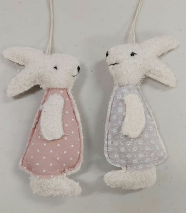 Teddy Bear Fabric Hanging Bunnies