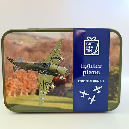 Fighter Plane Construction Kit in a Tin