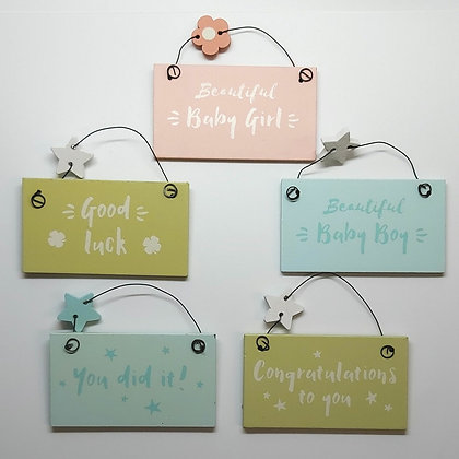 Teeny Tiny Keepsake Signs