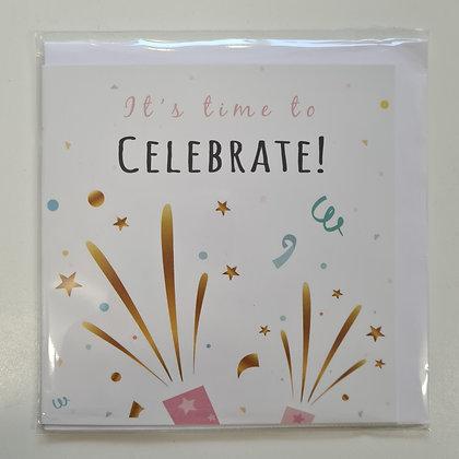 Celebrate Card with Confetti