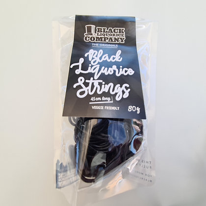 Black Liquorice Strings 80g