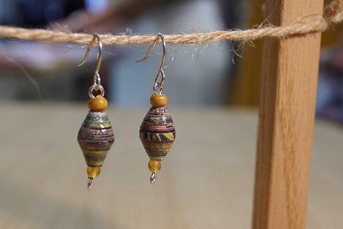 Les Petits Papiers de Sand - Boucles d'oreilles 1 perle