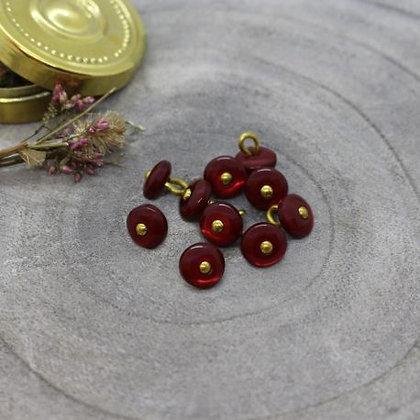 Atelier Brunette - Bouton Amarante Jewel