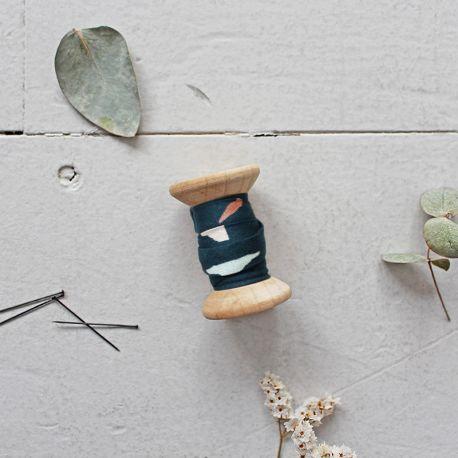 Atelier Brunette - Biais Tabby Green