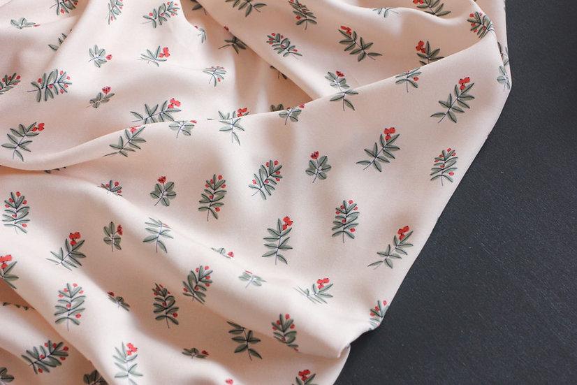 Lise Tailor - Viscose imprimé Winter Berries