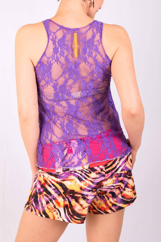Dénudé violet et short
