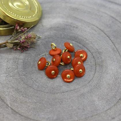 Atelier Brunette - Bouton Tangerine Jewel