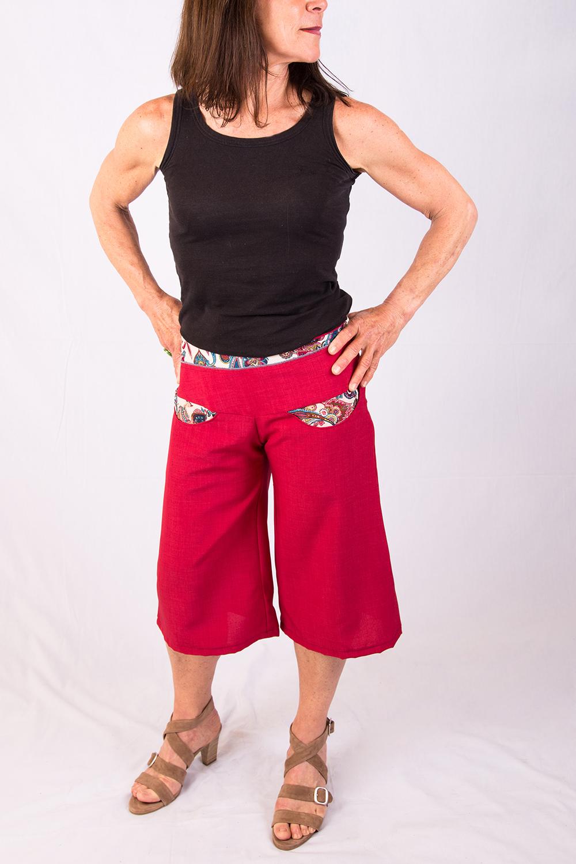 Panta-court rouge